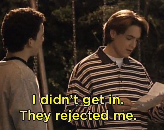 """When Eric found out he wasn't going to college after all. 