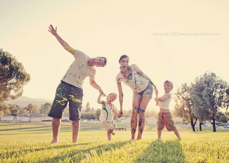 for an awesome family session, have a paint fight and then make goofy faces!