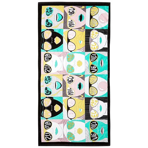 Michael Leon Spot Check Towel Curated by Arkitip