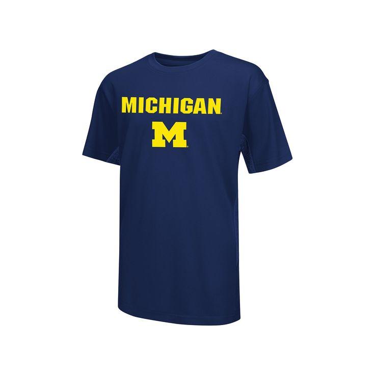 Boys 8-20 Campus Heritage Michigan Wolverines Ultra Tee, Boy's, Size: Xl(18/20), Blue (Navy)