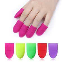5Pcs Silicone Soak Off Caps Reusable UV Gel Nail Polish Remover Wraps Manicure Nail Art Tools //FREE Shipping Worldwide //
