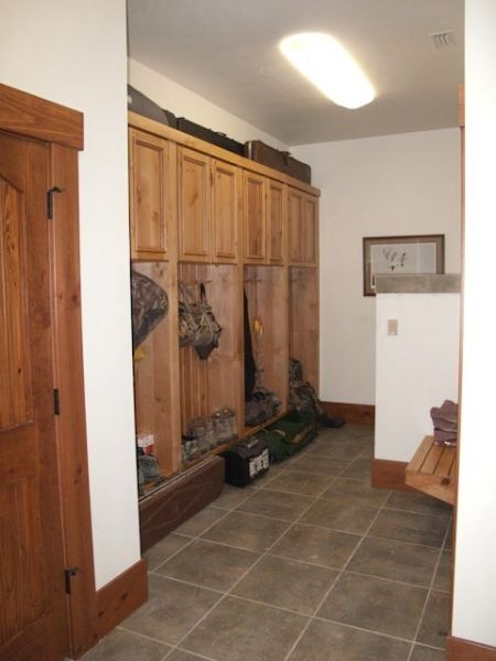 Lockers and laundry room  Log Home Ideas in 2019