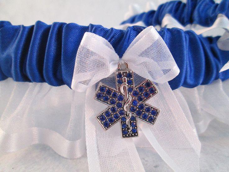 EMT Wedding Garter Set - Something Blue Wedding Garters – Creative Garters