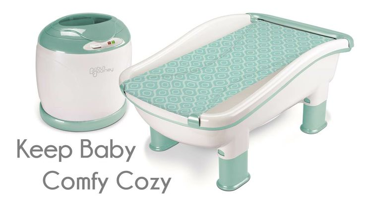 JPMA Certified Comfy Cozy Tub & Towel Warmer by Baby's Journey {comes with matching towel warmer!}