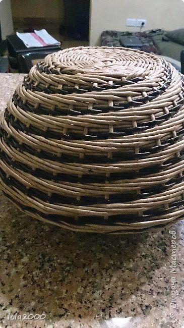 Поделка изделие Плетение последние плетенки 2014 года Трубочки бумажные фото 5