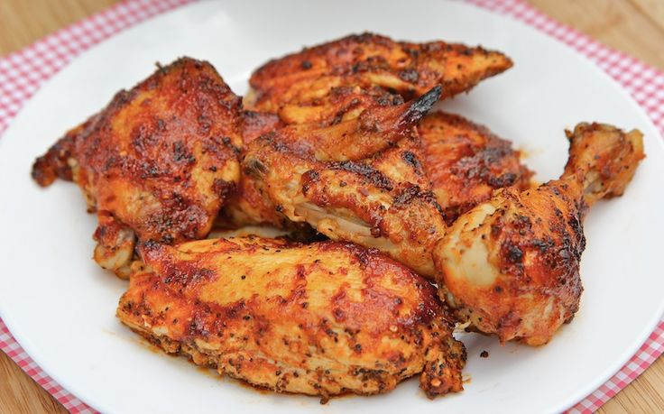 baked bbq chicken recipe barbecue chicken  I've made this several times with great results and raves from my family.  I have tweaked it at times (sometimes without the water, sometimes more pepper, sometimes less).  It's a very good and forgiving recipe.  I use chicken breast only as my family aren't big fans of the other chicken parts.  Really yummy.
