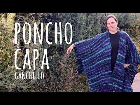 Tutorial Poncho | Capa Fácil y Rápido Ganchillo | Crochet