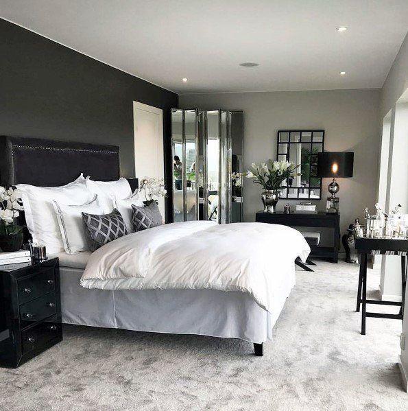 Dark Grey And Silver Master Bedroom Ideas Luxurious Bedrooms Luxury Bedroom Furniture Grey Bedroom With Pop Of Color