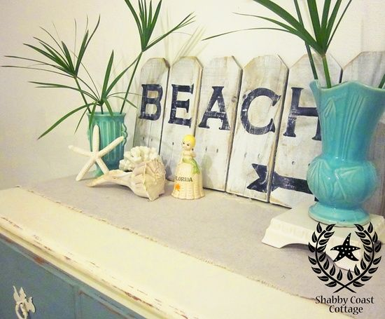 Nautical Decor Diy DIY Coastal Decor Love The Beach Sign Beach Hous