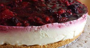 Cheesecake al cioccolato bianco e frutti di bosco