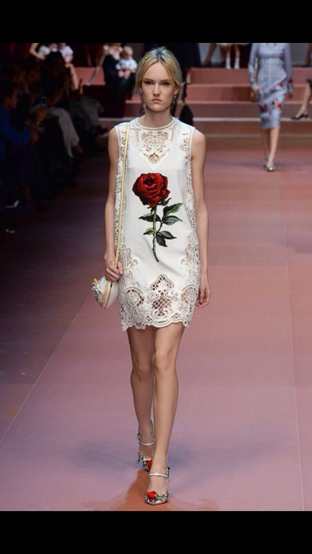Dolce & Gabbana. The rose reminds me of Beauty and the Beast!