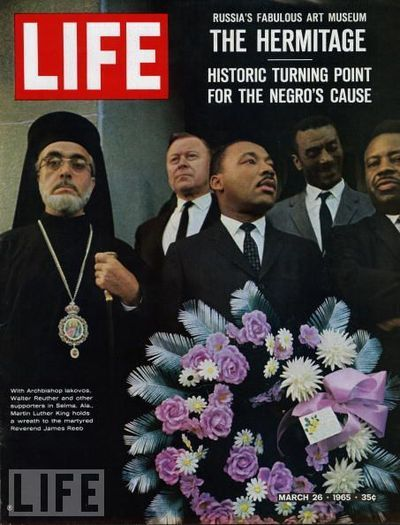 Life magazine covers from March, 1965, reporting on the historic Selma-to-Montgomery March for voting rights