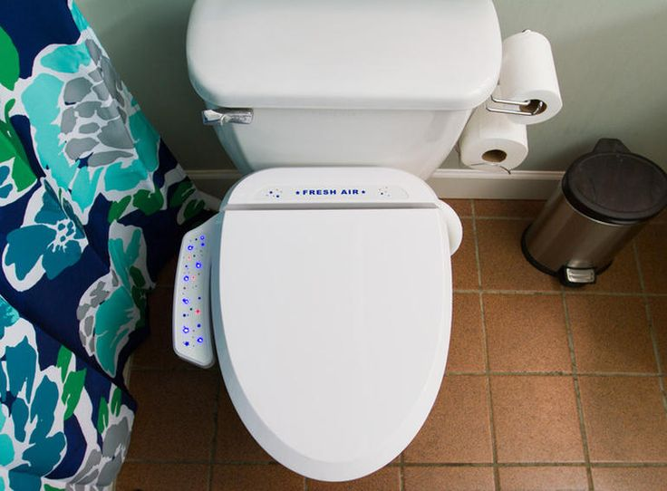 Fresh Air Plus Toilet Seat - Toilet seat with built-in fan sucks out the stench. Bad bathroom odors are conquered by Fresh Air Plus, a toilet seat with a fan and exhaust pipe that banishes smells to the outside.
