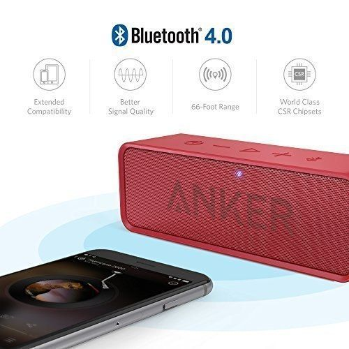 2999 invece di 4299 (offerta del giorno) http://amzn.to/2l54Pvg Anker Altoparlante Bluetooth SoundCore - Speaker Portatile Senza Fili con Microfono Incorporato e Doppia Cassa
