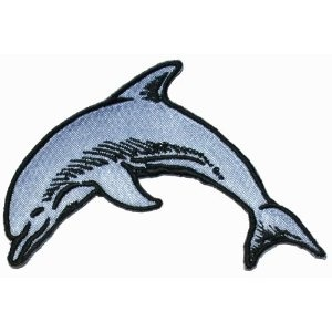 Dolphin Mammal Fish Iron On Applique Patch