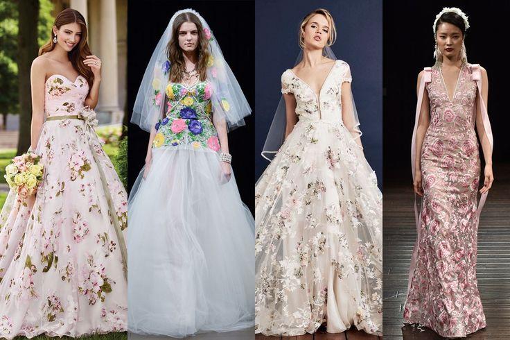 30 Fabulous Floral Wedding Dresses.  Floral Wedding Dresses - Brides Magazine 2017 (BridesMagazine.co.uk)