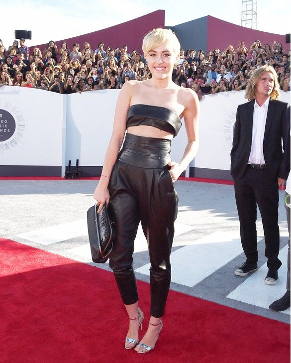 Miley Cyrus // Alexandre Vauthier top and pants from the Fall 2014 Couture collection.