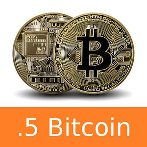 0.5 Bitcoin (.50 BTC) Direct Bitcoin Wallet Deposit - 1 to 24 HRS Delivery