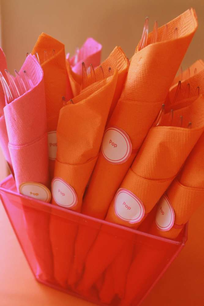 """Pink and Orange """"About to POP""""! 