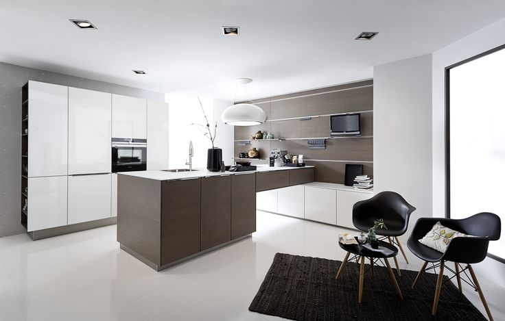 Küchen modern art  Nolte Modern Art Küche Glas Tec Plus 16W Weiß Hochglanz Nolte ...