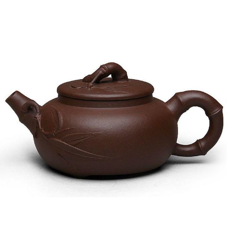 Zi Sha-Purple Clay Tea Pot-150ML-Bamboo Series-C - Tea Pot - Teaware Enjoy / Slow / Green