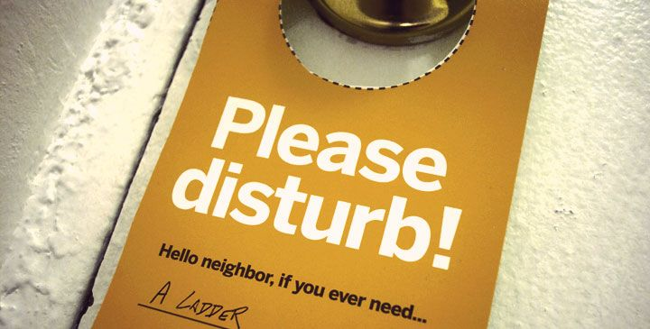 Great for apartment dwellers - Let your neighbors know what items you'd be happy to share with them. The reverse side lets your neighbors know what items you'd like to borrow. Helps you to get to know your neighbors and fosters community.