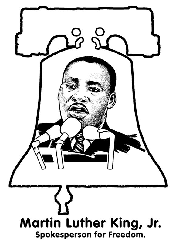 Martin Luther King Activities FREE Coloring Page By Crayola