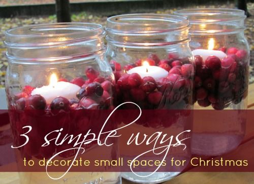 3 simple ways to decorate small spaces for christmas for Decorate my photo