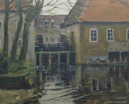 "Daily Paintworks - ""Watermolen Borculo. Borculo, Holland."" - Original Fine Art for Sale - © René PleinAir"