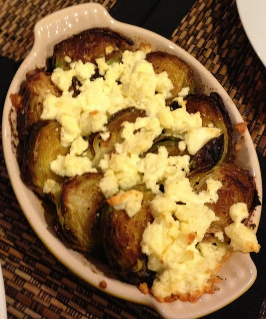 Baked Brussels Sprouts, Feta & Garlic