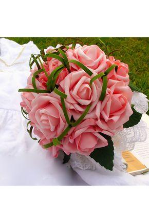 Bouquets de Noiva Mão-amarrado 15 flores Bouquets de casamento Ótimo