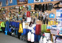 """The """"Wall of Temptation"""" at The Scuba Doctor"""