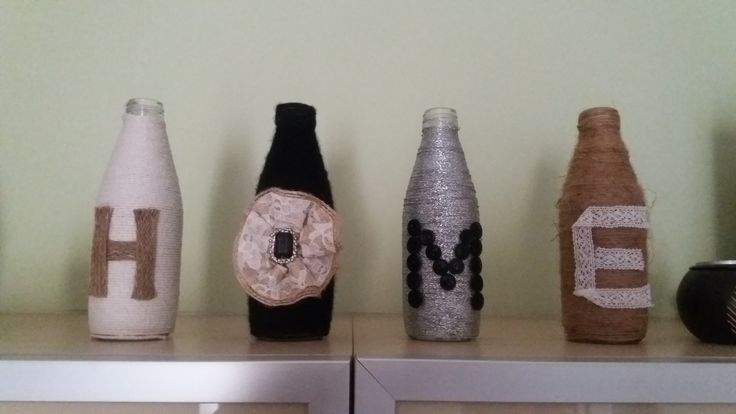 Diy recycle old bottles to a beautiful home decor idea.