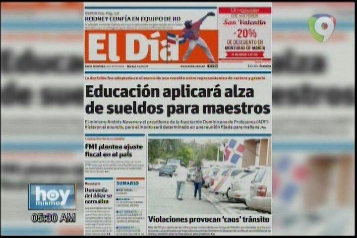 Portada De Los Periódicos Del Día De Hoy