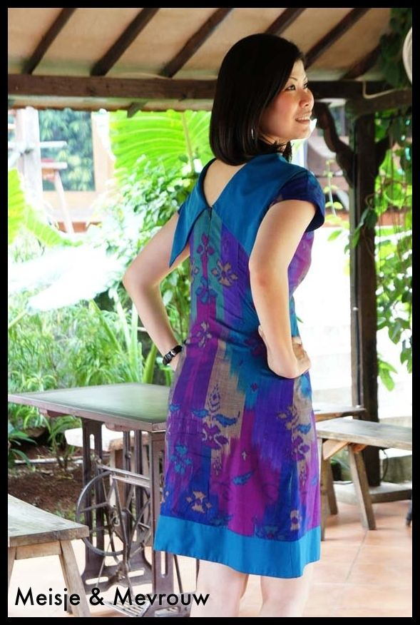 Dress made of tenun sidemen bali combine with high quality cotton