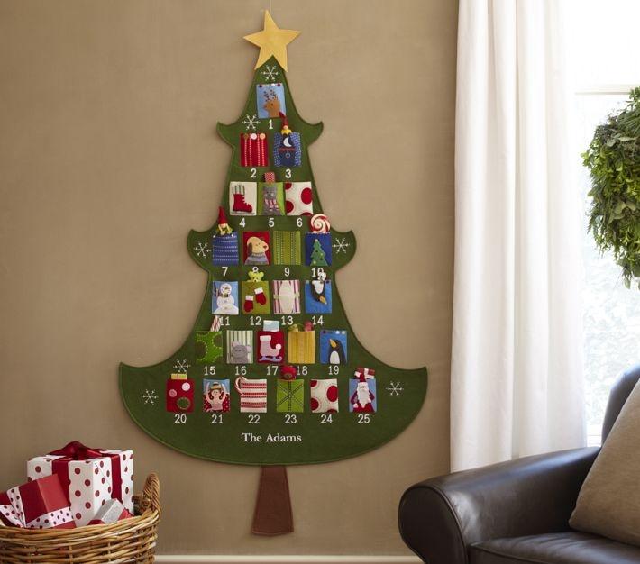 Christmas Advent Calendar: Christmas Advent Calendar, Ideas, Kids Christmas, Felt Christmas, Advent Calender, Holidays, Felt Trees, Christmas Trees, Pottery Barns