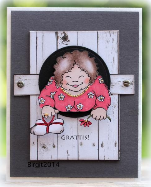 SC493 Smile card by Biggan using Vilda stamps.
