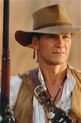 *PATRICK SWAYZE...Coralie has a suede hat like this and I am looking for one for myself.