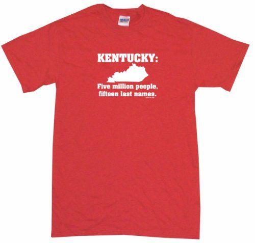 Kentucky 5 Million People 15 Last Names Mens Tee Shirt 4XL-Red