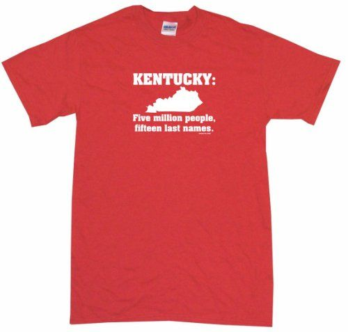 Kentucky 5 Million People 15 Last Names Mens Tee Shirt 4XL-Red