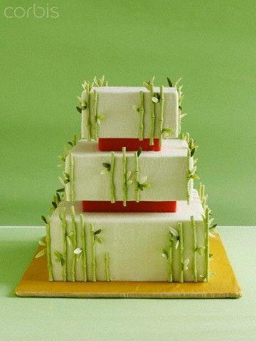 Wedding cake with bamboo, 42-27211961, Fotochannels