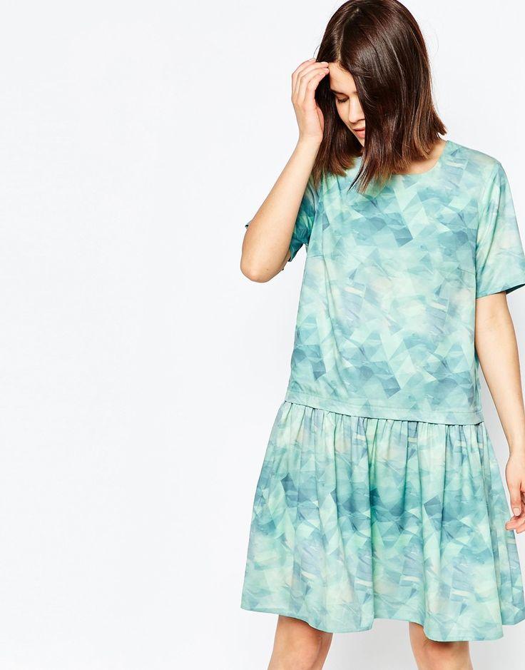 Image 1 - Y.A.S - Pixie - Robe à manches courtes avec imprimé abstrait