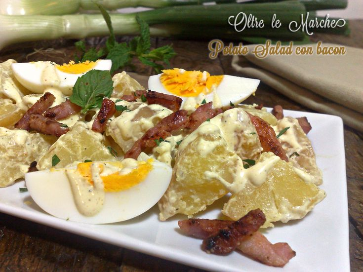 Potato salad con bacon e uova | Oltre le MarcheOltre le Marche