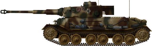 Tiger Porsche june 1944, The only Porsche Tiger in active service with Abt.653, Ukraine, June 1944.
