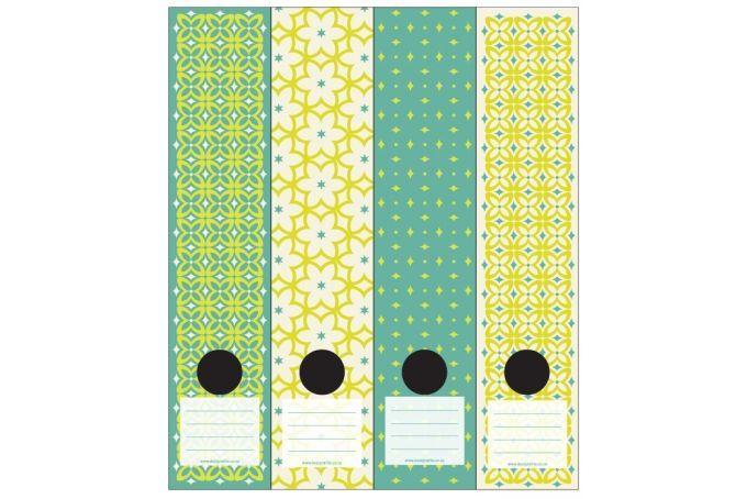 Lever Arch labels: Diamond Florals clr1 by Design-A-File on hellopretty.co.za