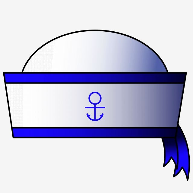White Cartoon Sailor Hat White Sailor White Hat Png And Vector With Transparent Background For Free Download Sailor Hat White Hat Sailor