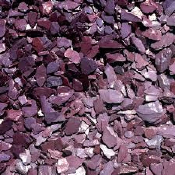 DECORATIVE AGGREGATES PLUM SLATE CHIPPINGS 40MM 25KG BAG in Home, Furniture & DIY, DIY Materials, Other DIY Materials | eBay