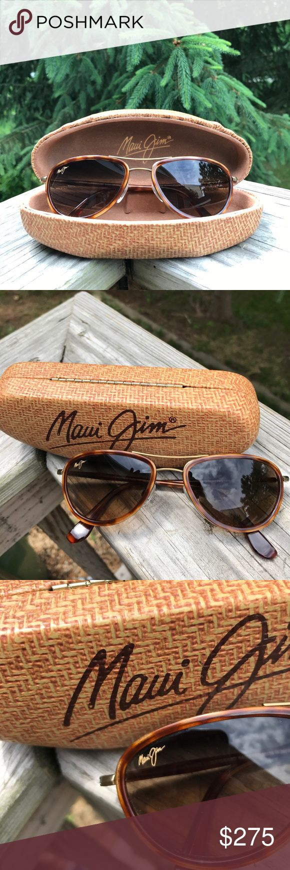 Maui Jim women's sun glasses Women's Maui Jim sunglasses great condition!! Feel free to ask questions. Smoke free pet free home. Purchased from authorized retailer in Charlotttesville Va  for over $350.00 was hoping to eventually turn them into my prescription however never got to it and I really can't see without so.. selling them! Please see all photos. Can't remember the exact style not sure if it's the name written in the ear piece. Maui Jim Accessories Sunglasses