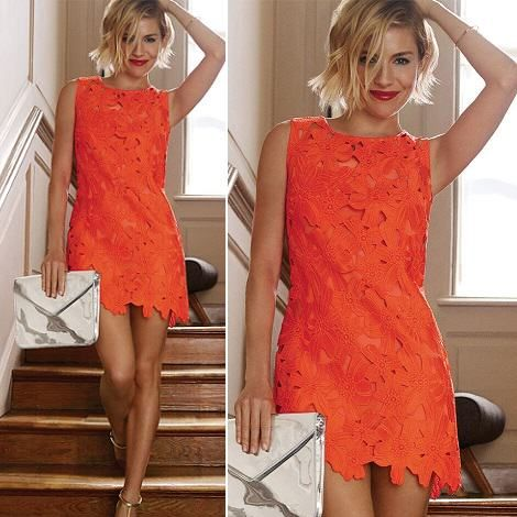 Robe morgan noir et orange