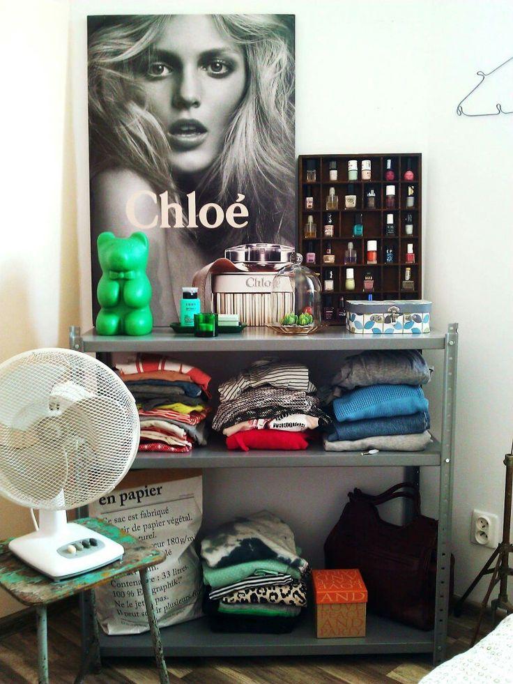 Bedroom storage.